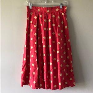 EShakti Polka Dot Cotton Poplin Skirt